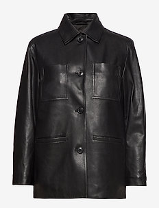 Iris Leather Jacket - BLACK