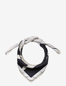 M. Sandhamn Print Silk Scarf - NAVY PRINT