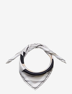 M. Sandhamn Print Silk Scarf - OFF WHITE