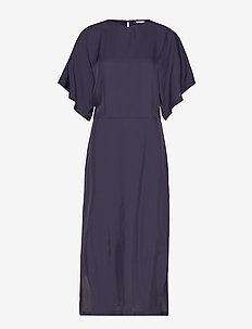 Kimono Sleeve Dress - MOODY BLUE