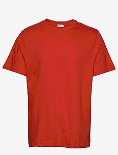 M. Single Jersey Tee - basic t-shirts - red orange