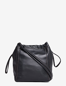 Lena Soft Bucket Bag - bucket-väskor - black