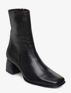 Eileen Leather Boot - enkellaarsjes met hak - black