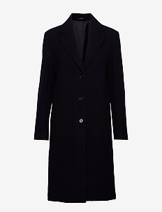 Barnsbury Coat - wool coats - navy