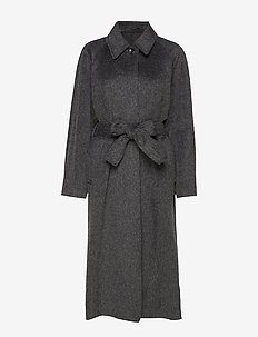 Montana Coat - wool coats - charcoal m