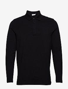 M. Luke Lycra Polo Shirt - long-sleeved - black