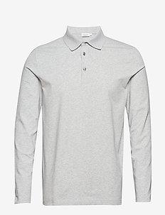 M. Luke Lycra Polo Shirt - long-sleeved - light grey