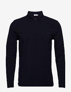 M. Luke Lycra Polo Shirt - long-sleeved - navy