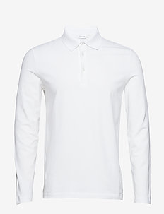 M. Luke Lycra Polo Shirt - lange mouwen - white