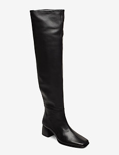 Camille Knee High Boot - BLACK