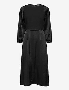 Harper Dress - midiklänningar - black