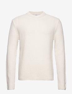 M. Tobias Sweater - basic strik - almond whi