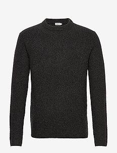 M. Tobias Sweater - basic gebreide truien - dark grey