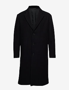 M. Lyon Wool Coat - BLACK