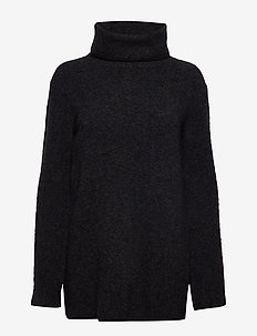 Nico Yak Sweater - turtlenecks - charcoal m