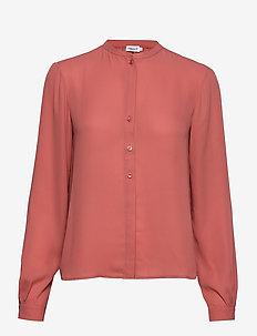 Adele Blouse - langærmede bluser - pink cedar