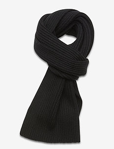 M. Knitted Scarf - sjaals - black