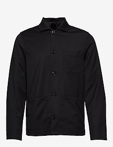 M. Louis Gabardine Jacket - overshirts - black