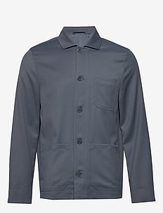 M. Louis Gabardine Jacket - BLUE GREY