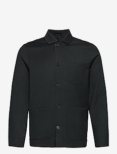 M. Louis Gabardine Jacket - overshirts - dark spruc