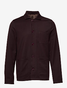 M. Louis Gabardine Jacket - overshirts - deep shira