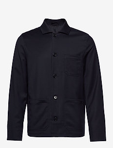 M. Louis Gabardine Jacket - overshirts - navy