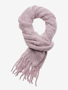 Slim Chunky Wool Scarf - sjaals - pink sky