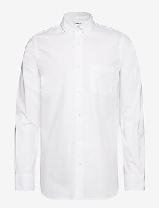 M. Tim Light Oxford Shirt - WHITE