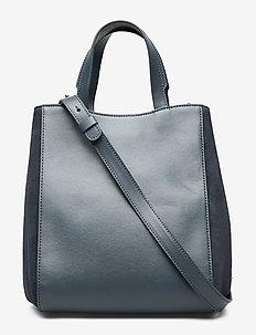 Shelby Mini Bucket Leather Bag - BLUE SLATE