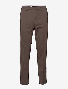 M. Justin Wool Trouser - suit trousers - dark oak