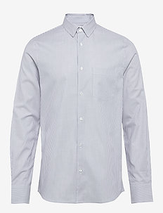 M. Tim Cotton Shirt - BLUE STRIP