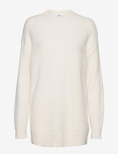 Rebecca Rib Sweater - trøjer - almond whi