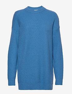 Rebecca Rib Sweater - swetry - sapphire b