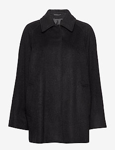 Montreal Coat - wool coats - black