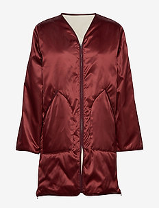 York Coat - quilted jackets - pure red