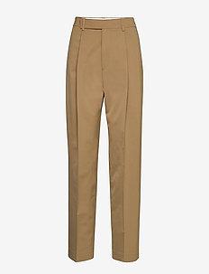 Julie Trouser - bukser med brede ben - dark khaki