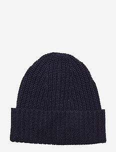 Elisa Recycled Cashmere Beanie - huer - navy