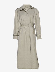 Geneva Coat - trenchs - light sage