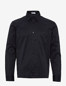 M. Zach Overshirt - basic shirts - navy