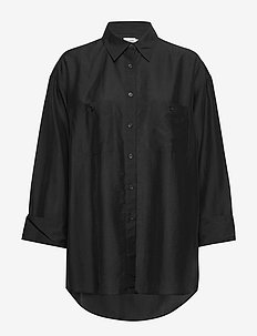 Sandie Shirt - long-sleeved shirts - black
