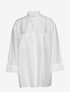 Sandie Shirt - långärmade skjortor - coconut wh