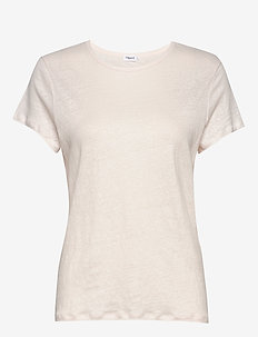 Hazel Linen Tee - t-shirts - faded pink