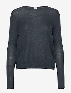 Ines Mohair Sweater - neulepuserot - blue grey