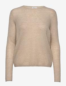Ines Mohair Sweater - trøjer - grey beige
