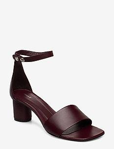 Sandy Sandal - heeled sandals - dk burgund
