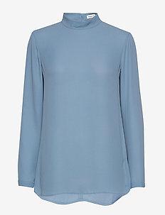Macy Top - langærmede bluser - blue heave