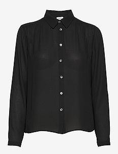Marielle Top - langærmede bluser - black