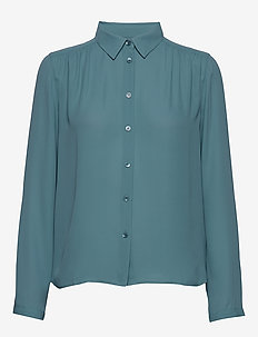 Marielle Top - long sleeved blouses - blue heave