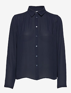 Marielle Top - long sleeved blouses - navy