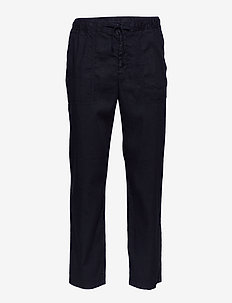 M. Theodore Linen Trouser - casual trousers - black